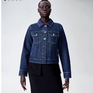 Universal Standard Kelsey Dark Denim Jacket 10 12